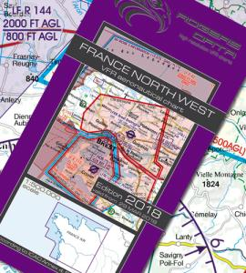 French ICAO VFR 1:500 000 Chart 941 - North West