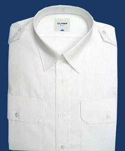 """""""LUFTHANSA""""  Pilot Shirt white - short sleeve, regular fit"""