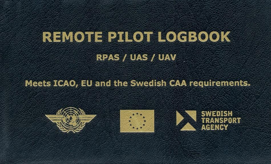 Remote Pilot Logbook Loggbok F 246 R Drones Rpas Uas And Uav