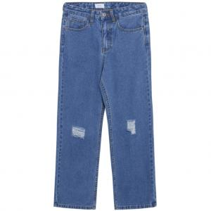 GRUNT WIDE LEG AUTHENTIC RIPPED JEANS