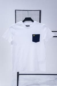 LYLE&SCOTT CONTRAST POCKET T-SHIRT