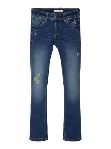 NAME IT SLIM JEANS MED SLITNINGAR