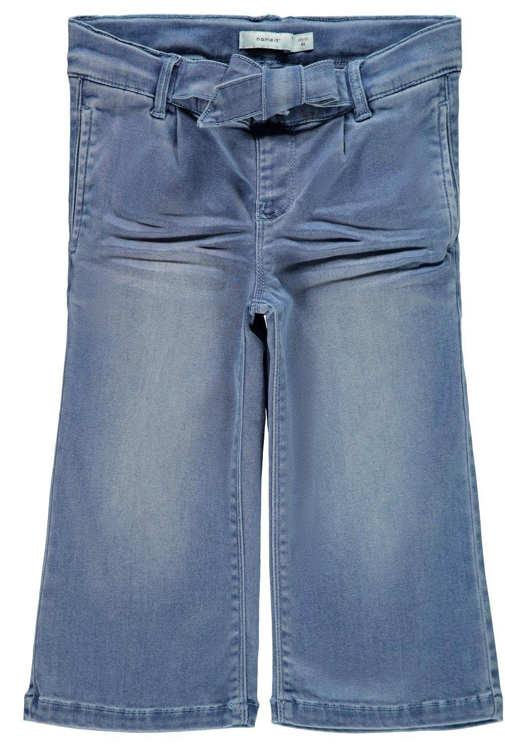 NAME IT REGULAR WIDE JEANS MED KNYTBAND