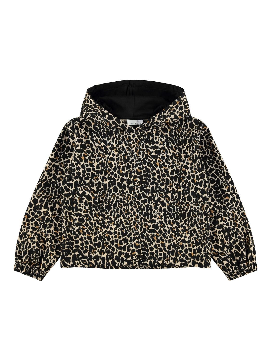 NAME IT LEOPARD HOODTRÖJA