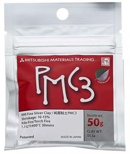 Silverlera PMC3 50gram silver, 55,6 gram material.