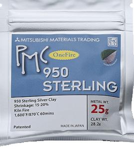 Silverlera PMC 25 gram 950 Sterling . Bränning utan kol
