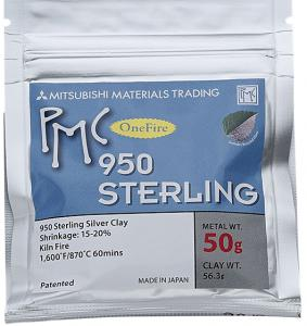 Silverlera PMC 50 gram 950 Sterling . Bränning utan kol.