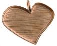 Hänge hjärta osymmetriskt 35x20 mm, massiv koppar (ej förkopprat) ca 3 mm djupt