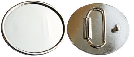 Bältesspänne att limma glas- eller silverdekoration på.