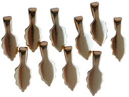 Hänge 10 st förgyllda 18k guld, små, 15 mm långa att limma på t.ex glas.