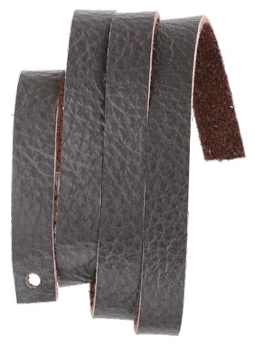Läderrem 10 x 600 mm mörkbrun, mjukt koläder.