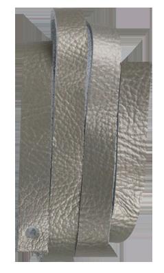 Läderrem 10 x 600 mm Silver,  mjukt koläder.