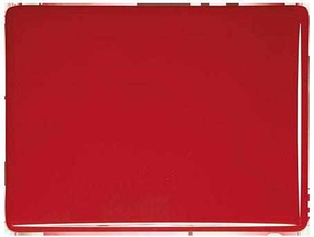 Tomatröd 3mm opalescent ca 25x21 cm, Bullseye COE 90