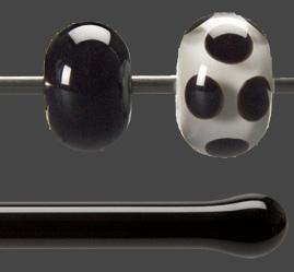 Stav Svart opalescent 5,5 mm ca 40cm lång