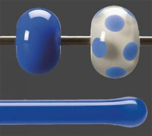 Stav Koboltblå opalescent 5,5 mm ca 40cm lång