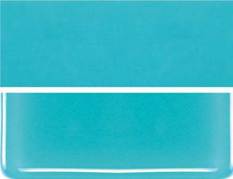 Turkosblå opalescent, 3mm, ca 25x21 cm, COE 90