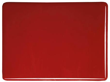 Röd opalescent 3mm, ca 25x21 cm, COE 90