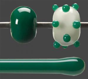 Stav Jade grön opalescent 5,5 mm ca 40cm lång
