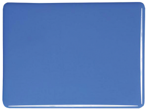 Egyptisk blå opalescent 3mm, ca 25x21 cm