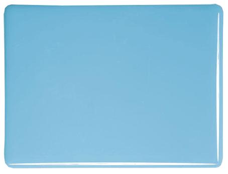 Cyanblå ljus opalescent 3mm, ca 25x21 cm