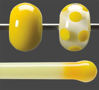 Stav Solros gul opalescent 5,5 mm ca 40cm lång