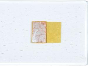 Alchemy klart glas silver till guld*) 2 mm ca 25 x 21 cm