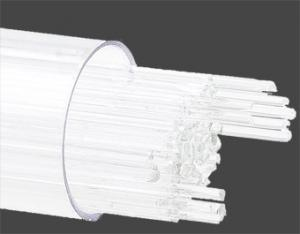 Stringers 1 mm vit opal. Ett rör med ca 130 st 45 cm långa glasstavar