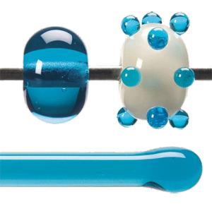 Stav Turquoise blå transparent 5,5 mm ca 40cm lång