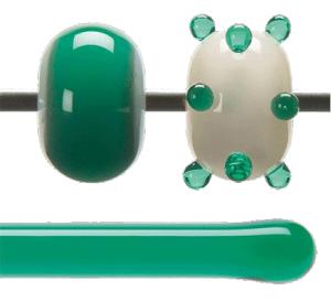 Stav Smaragdgrön transparent 5,5 mm ca 40cm lång