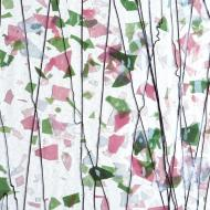 Collage Rosa, grön, vit 3 mm, ca 25x21 cm