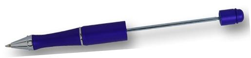 Penna, blå, för montering av pärlor