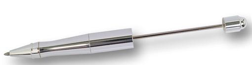 Penna, silverblank, för montering av pärlor