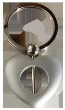 Nyckelring för montering av pärla. Silverfärg
