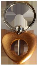 Nyckelring för montering av pärla. Bronsfärgad