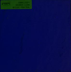 Dichroiskt fusingglas 10x10 cm Crinkle på svart botten.