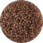 Glaspärlor Klar/Nougat  4/0 ca 2,1 mm ca 600-700