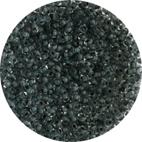 Glaspärlor Klar/Mörkgrå  4/0 ca 2,1 mm ca 600-700