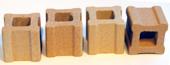 Ugnsklossar 4st ,  2,5 x 2,5 x 2,5 cm för att höja en hylla.