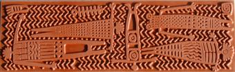 Gummimatta, Indiansk Totemfilt, Mattan är ca 55 x 170 mm.