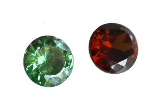 Zirkonia grön 3 mm rund brilliantslipad
