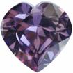 Zirkonia Ametistfärg, Hjärta 14 x 14 mm