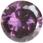 Zirkonia Ametistfärg, 6mm.Rund,
