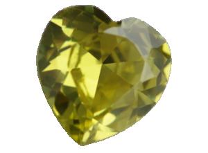 Zirkonia Applegreen 14x14 hjärta.