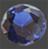 Zirkonia Blå 5mm 1 st rund brilliantslipad.