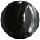 Zirkonia svart 10mm cabochon rund