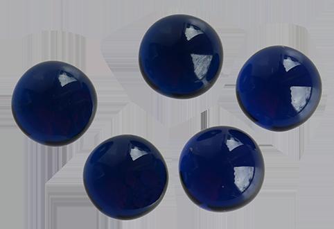 Zirkonia Blå, 8 mm cabochonslipad.