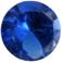 Zirkonia Burmablå 8 mm 1 st rund. Priset är för 1 stycken.