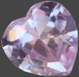 Zirkonia Lavendel 14x14 hjärta