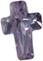 Zirkonia lavendel kors 6x9 mm