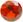 Zirkonia Orange 3mm facettslipad rund.